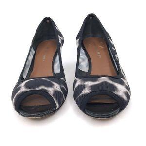 Donald J. Pliner Shoes - Donald J Pliner Molly Leopard Peep-toe Wedges 7